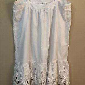 LOFT Dresses - White sundress with eyelet trim